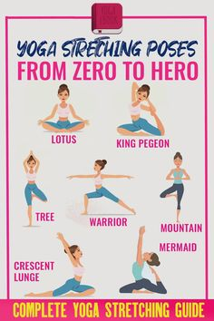 Yoga Stretching, Yoga Positionen, Stretches For Flexibility, Sup Yoga, Flexibility Workout, Strength Workout, Vinyasa Yoga, Yoga Flow, Yoga Meditation