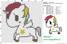 Tokidoki's unicorn cross stitch pattern