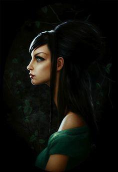 Lori Earley-Woman in the Green Dress