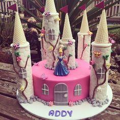 Cinderella Pink Princess Castle Cake