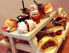 Kitsch? Or just plain irritating? This photo of a mini garden bench was posted on the @wewantplates Twitter account, which is biting back at restaurants who use novelty ways to present food