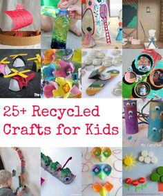 A super fun collection of recycled crafts for kids...you probably already have the supplies in your recycling bin!