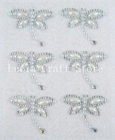 Aliexpress.com : Buy Clear Color 4*3.3cm Dragonfly Design Rhinestone&Pearl Sticker scrapbooking ( 1 sheet/lot) 022002069 from Reliable pearl suppliers on Lucia Craft store