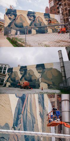ARYZ Detroit Mural in progress