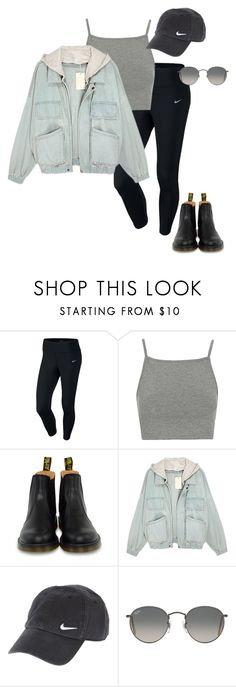 """""""camping at joshua tree for 3rd anniversary"""" by stylistcookies ❤ liked on Polyvore featuring NIKE, Topshop, Dr. Martens and Ray-Ban"""