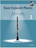 MAUZ R. - EASY CONCERT PIECES 1 - € 18,50 Klarinet klassiek, Klarinet/Piano + CD, SCHOTT ED22622