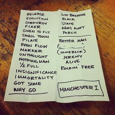 Pearl Jam - Set list - 6/20/11  Manchester1 UK 2012  Awesome show! :-)