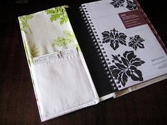 Easy, simple tutorial on making a journal cover (with pockets)