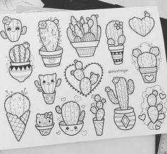 Cactus tattoo designs More halloween flashsheet Cute Drawings, Tattoo Drawings, Tattoo Sketches, Cool Tattoos, Small Tattoos, Amazing Tattoos, Flash Tattoos, Tiny Tattoo, Ship Tattoos