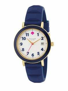 Kate Spade New York - Metro Goldtone Stainless Steel, Enamel & Silicone Strap Watch