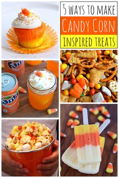 5 Ways to Make Candy Corn Inspired Fall Treats ~ Have some fun with your kids whipping up these fun fall treats inspired by the iconic candy corn. Don't like candy corn? Oh, there are recipes for you too!