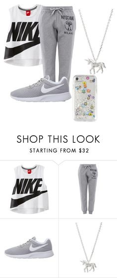 """""""Untitled #101"""" by halissiaelviracra on Polyvore featuring NIKE, Moschino, Estella Bartlett and Rebecca Minkoff"""