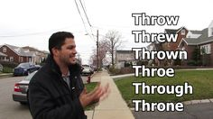 THROW | THROE | THREW | THROUGH | THROWN | THRONE | COMO PRONUNCIAR - AU...