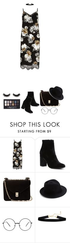 """Clueless."" by vii-xxiv ❤ liked on Polyvore featuring River Island, Witchery, Valentino, Eugenia Kim and Maybelline"