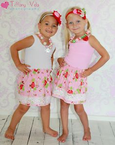 Scarlet's Shirred Skirt with Lace Embellishment Free Pattern