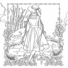 Anne Of Green Gables Coloring Pages – Coloring for every day Christmas Coloring Pages, Princess Coloring, Coloring Books, Disney Colors, Anne Of Green, Color, Princess Coloring Pages