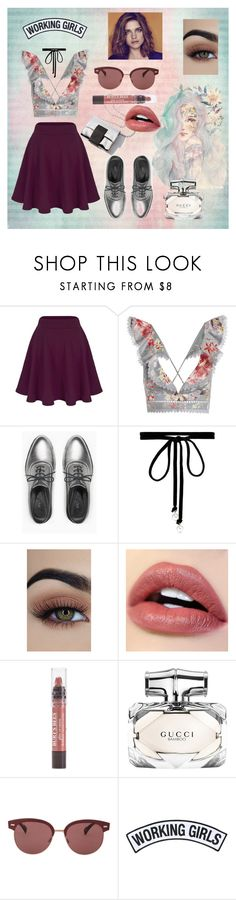 """""""TecnoSpring"""" by fabiolaarteaga ❤ liked on Polyvore featuring Zimmermann, Max&Co., Joomi Lim, Burt's Bees, Gucci, Oliver Peoples and Working Girls"""