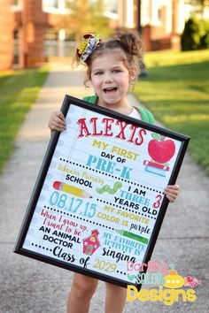 First Day of School Sign Back to School by DarlingSailorDesigns