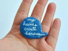 Brooch blue polymer clay balloon My hand create by madamaRobe, €10.00