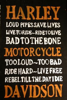 Harley Davidson Subway Art Sign