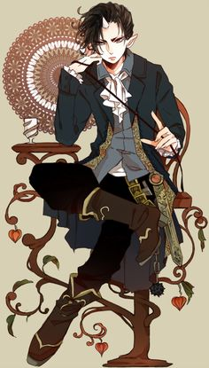 Hoozuki from the Manga Hoozuki no Reitetsu Fan Anime, Anime Love, Anime Guys, Anime Art, Photo Manga, Gekkan Shoujo, Estilo Anime, Another Anime, Bishounen