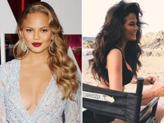 New Hair 2015: See Celebrity Hair Makeovers   InStyle.com Chrissy Teigen: Just after the Oscars in February, Teigen swapped her gold highlights for an all-over brunette hue.