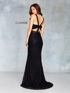 3829 - black lace prom dress with a strap back detail clarisse prom 2019 в High Low Prom Dresses, Black Prom Dresses, Elegant Ball Gowns, Occasion Dresses, Detail, Lace, Sexy, Vestidos, Black Ball Dresses