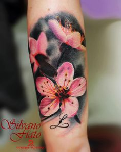 Realistic cherry blossom | Tattoos | Pinterest