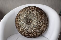Leopard pattern velvet round pillow 16 by fulyad on Etsy