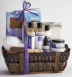 Valentine's Day Gift Baskets For Her Denarii Deluxe Lavender Spa Bath and Body #Verite #LoveRomance