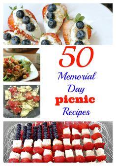 50 Memorial Day Picnic Recipes! - Virtually Yours