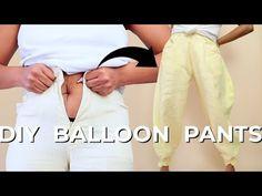DIY Balloon Pants with Ankle Ties Upcycle | Make Pants Bigger - YouTube Diy Fashion Hacks, Fashion Tips, Balloon Pants, Thrift Haul, Riding Pants, Upcycled Clothing, Refashioned Clothing, Jodhpur, More Cute