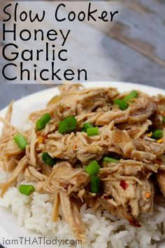 Need something easy for dinner? This slow cooker honey garlic chicken will be done in just 4 hours with hardly any prep!