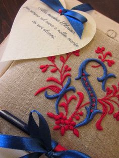 Elizabeth Hand Embroidery: Wedding favors and items for ceremony