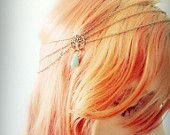 Boho Chain Headpiece Boho Headband Boho Chic Bohemian Head Jewellery Drape Headband Tree Of Life Gypsy Headpiece