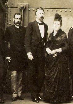 Conde D'Eu e princesa Isabel na Usina do Exército, em 1886.