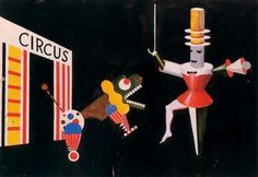 Bauhaus, Xanti Schawinsky. Designs costumes and scenery for the circus scene tamer and the beast.
