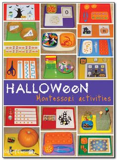 17 free and low cost Halloween Montessori activities perfect for young children.