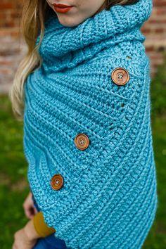 Ravelry: Cowl Neck Poncho pattern by Liz Ward