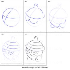 How to Draw Seedot from Pokemon printable step by step drawing sheet : DrawingTutorials101.com
