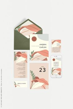 Imagine the sun on your body, refreshing breezes, light and color that convey these summer wedding invitations California. Corporate Design, Brand Identity Design, Graphic Design Branding, Packaging Design, Design Brochure, Illustration Inspiration, Graphic Design Inspiration, Web Design, Layout Design