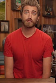 Someone caught Rhett making a duck face in the beginning of a Good Mythical Morning episode........
