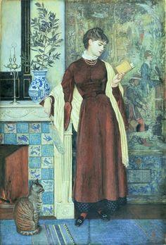 At Home: A Portrait (1872) - Walter Crane