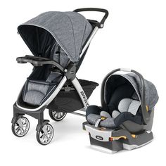 Bravo Trio System - IndigoChicco Bravo Travel System - Infant Car seat and stroller - Indigo