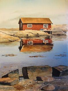 Watercolor Water, Watercolor Paintings, Norway Nature, First Art, Lovers Art, Art Inspo, Home Art, Watercolors, Galaxies