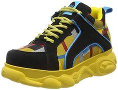 Sehr angenehm  Schuhe & Handtaschen, Schuhe, Damen, Sneaker & Sportschuhe, Sneaker Baskets, Yellow, Sneakers, Shoes, Fashion, Shopping, Shoe, Bag, Athletic Shoes