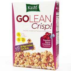 Best Natural Cereal: Kashi GoLean Crisp Toasted Berry Crumble Cereal