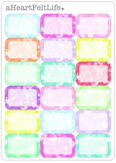 Pastel Bokeh Half Box Stickers for your Planner by aHeartFeltLife