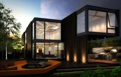 Skylab Architecture & Method Homes has come out with a new prefab concept labeled 'HOMB'. The layouts are made up of 100 sq ft triangular modules that can be configured and expanded in any way you can imagine. Exterior choices are natural, blackened, or whitewashed cedar siding.