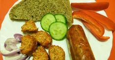 Hozzávalók : Egyforma mennyiségű gabonák: 1 kg-hoz ½ csésze barnarizs ½ csésze bió búza ½ csésze hántolt... Naan, Recipe Box, Zucchini, Sausage, Vegetarian Recipes, Vegetables, Food, Sausages, Essen